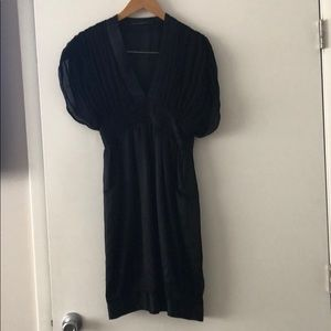 Development dress in black silk sz 6